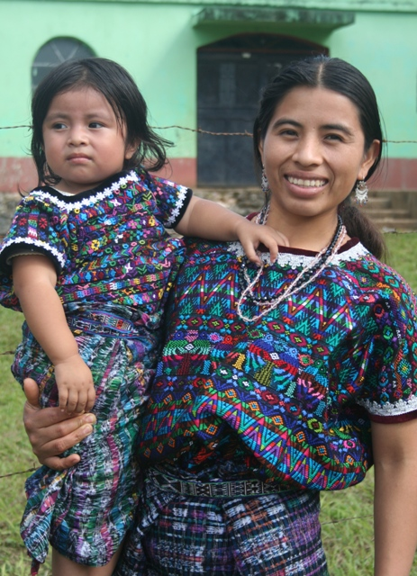 A beautiful Mayan woman and her daughter.