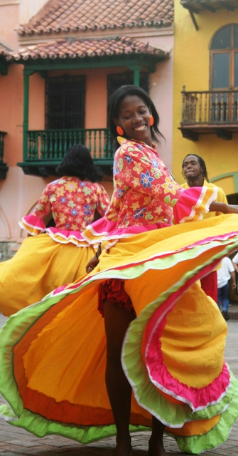 Traditional Dance performance in Cartagena