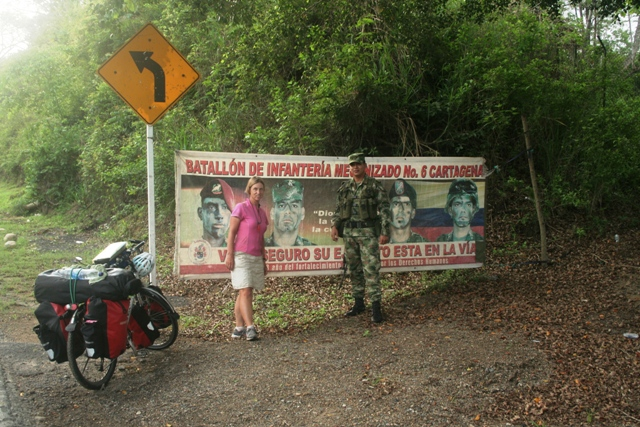 Camping with the Colombian Military