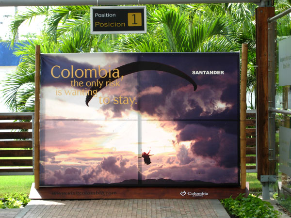 Colombia�s official tourist slogan