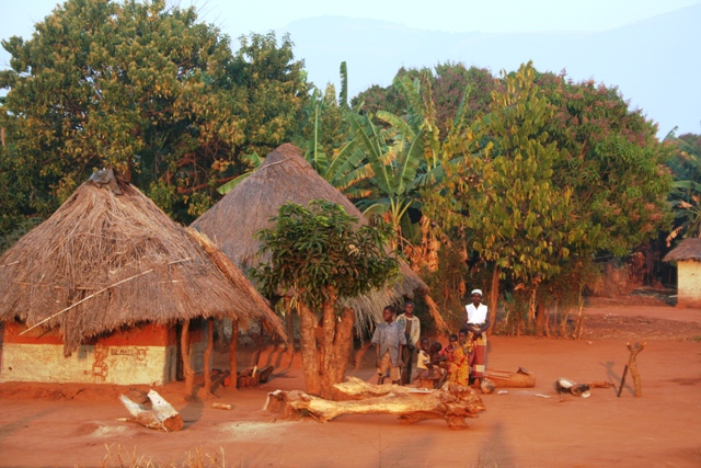 Tidy villages in Africa.