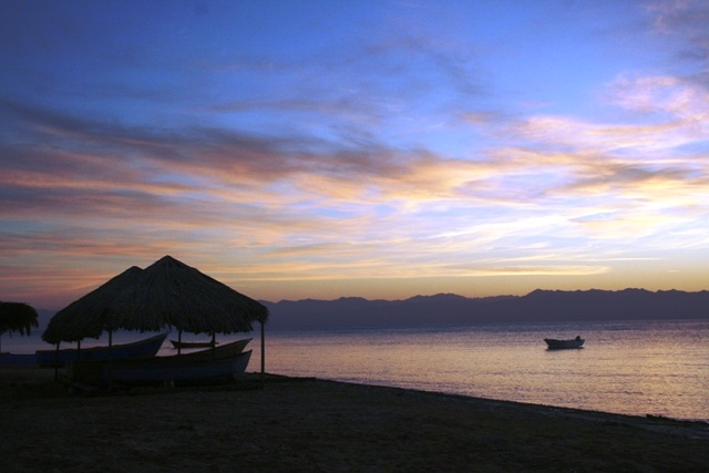 The deserted beach at Nuweiba.