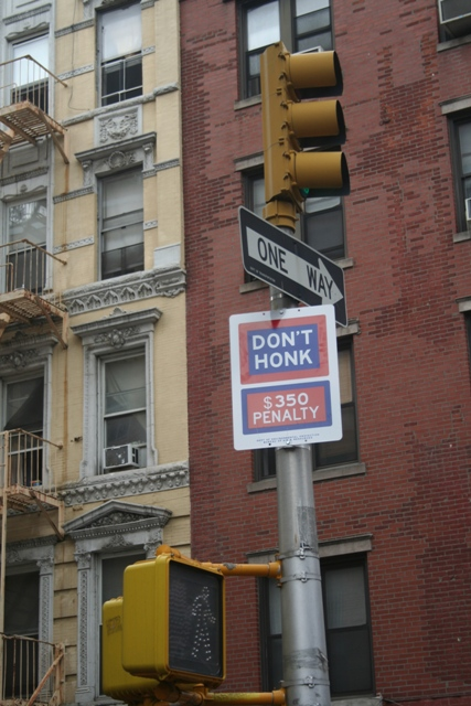 No honking in NYC