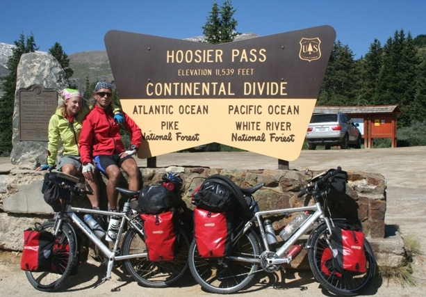 Hoosier Pass:  the highest point of our three year cycling tour.