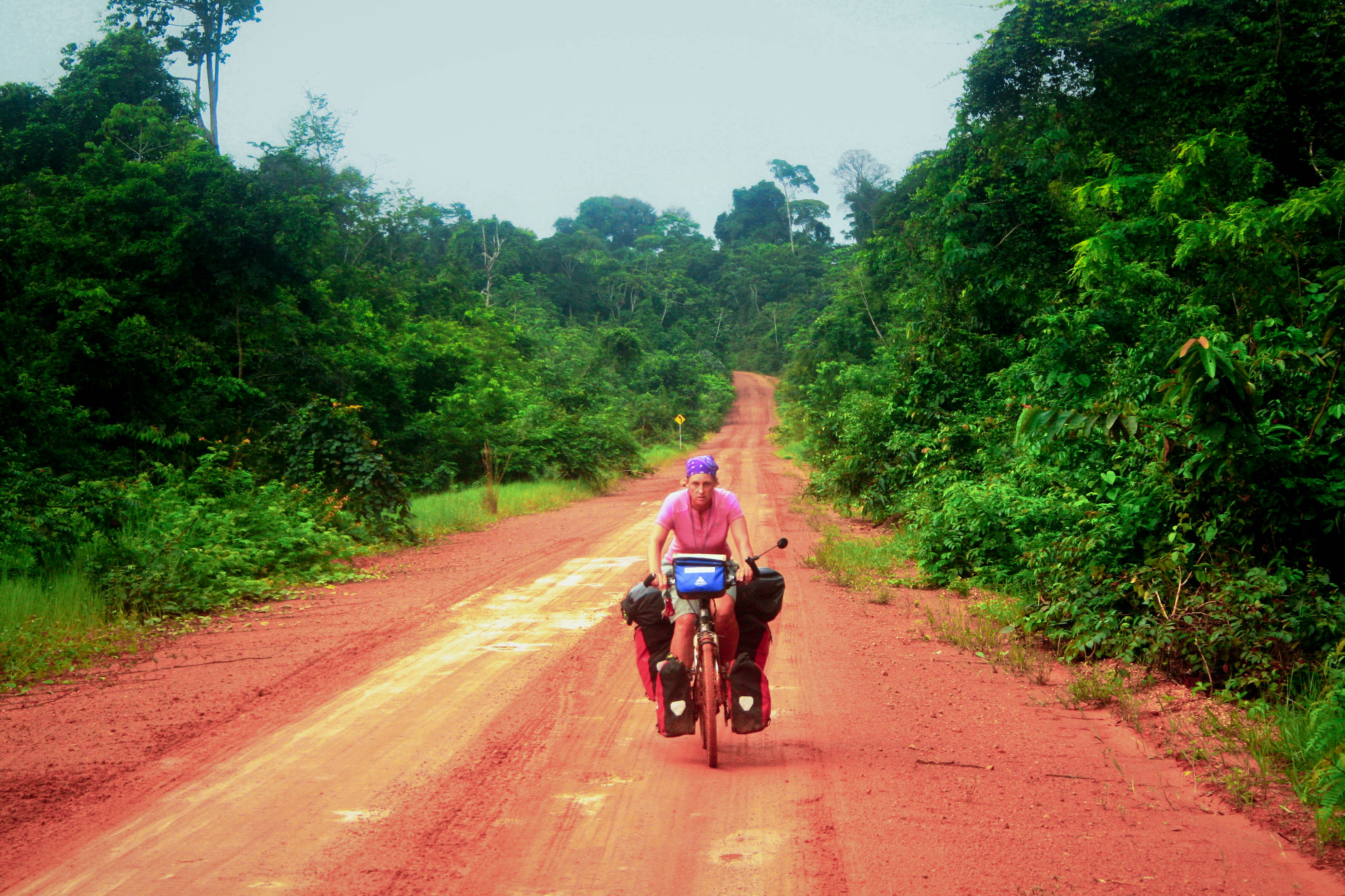 bicycle touring in south america guyana