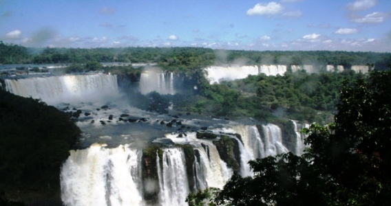 Beautiful Iguazu Falls- a view from the Brazil side.