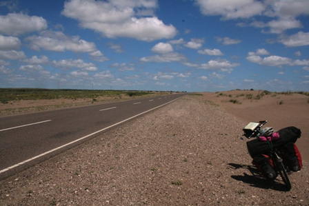 We're talking very empty roads on Ruta 3 through Patagonia.