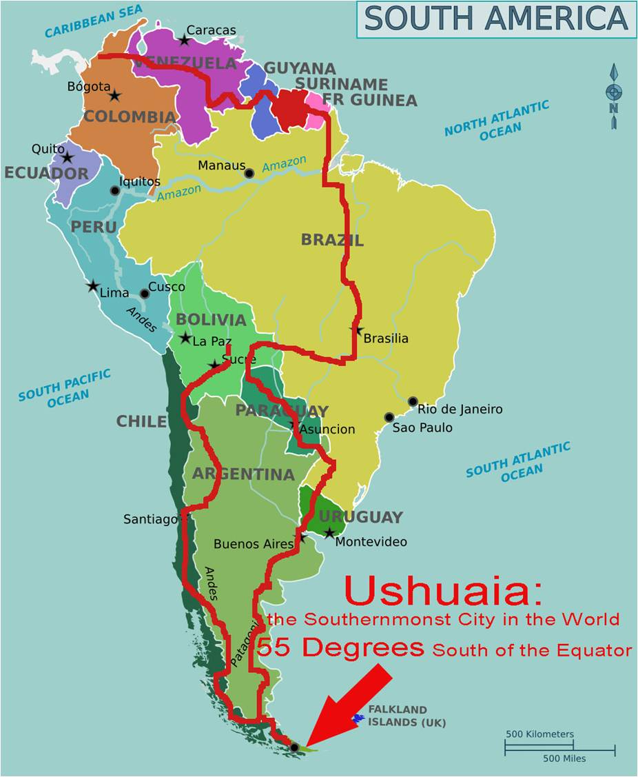South America Bicycle Touring Route - Worldbiking.info