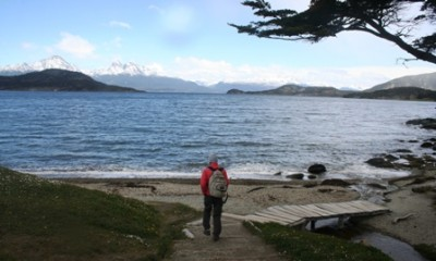 Off for a hike in the Tierra del Fuego National Park.