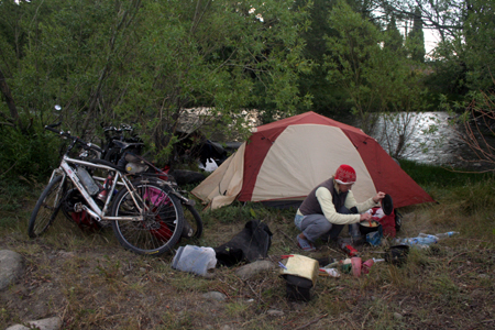 argentina camping and bicycle touring