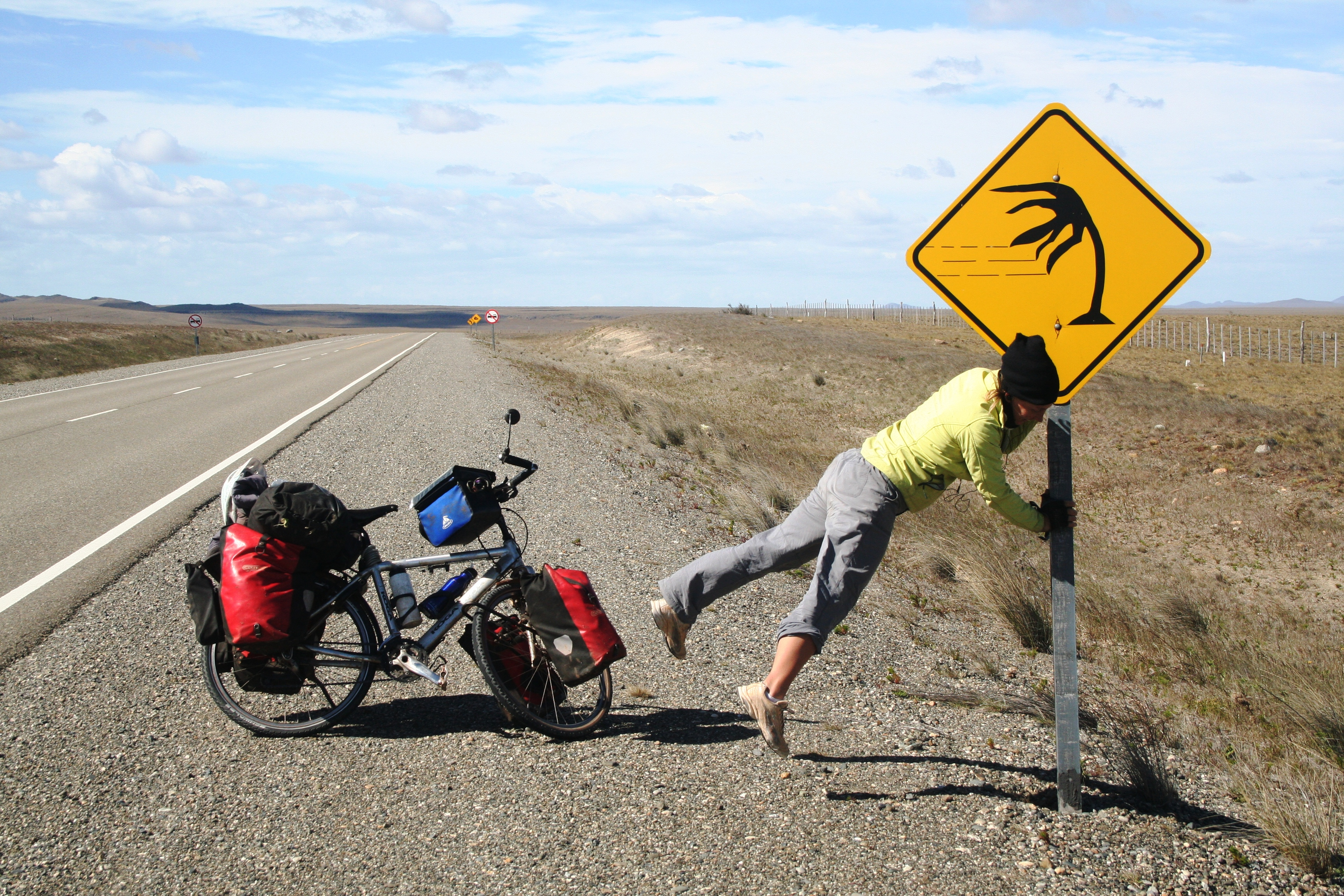 windy bicycle touring in argentina ruta 40