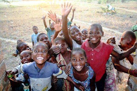 No, these kids are not from Ethiopia.  Those happy faces can be found in Malawi.