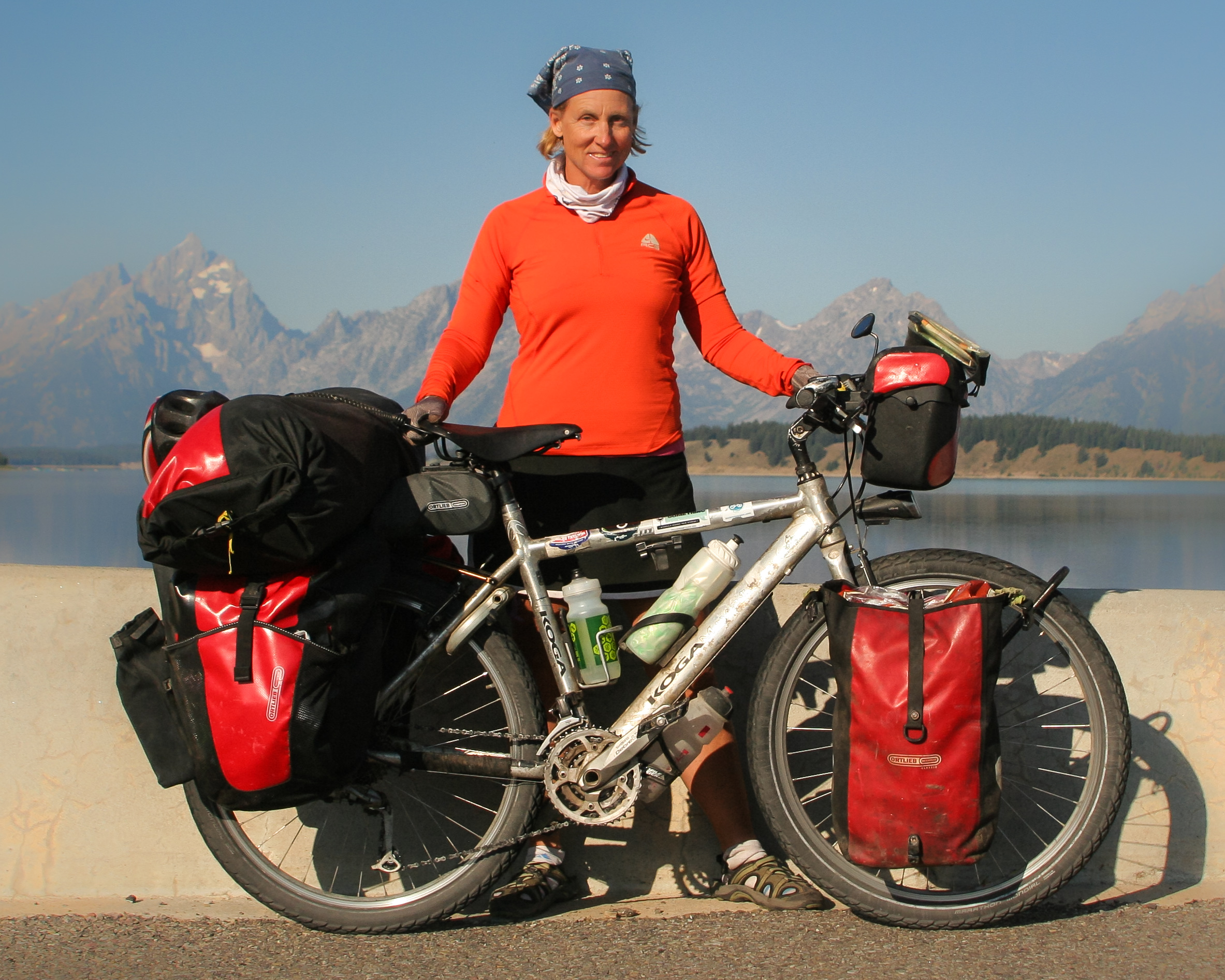 the world's most travelled American female cyclist