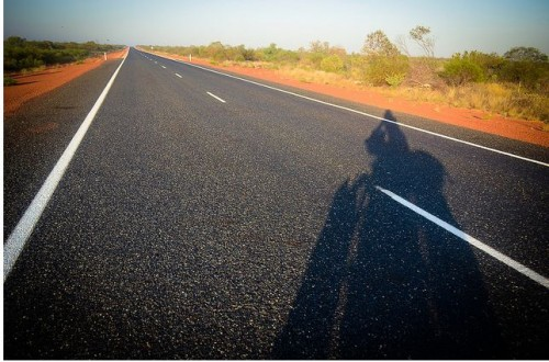 self portrait outback highway 1 (Between Dawn and Dusk)