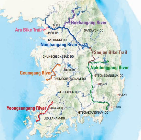 So many bike patch criss-crossing Korea. Once the word gets out, I'm sure the country will be swarming with cycle tourists.