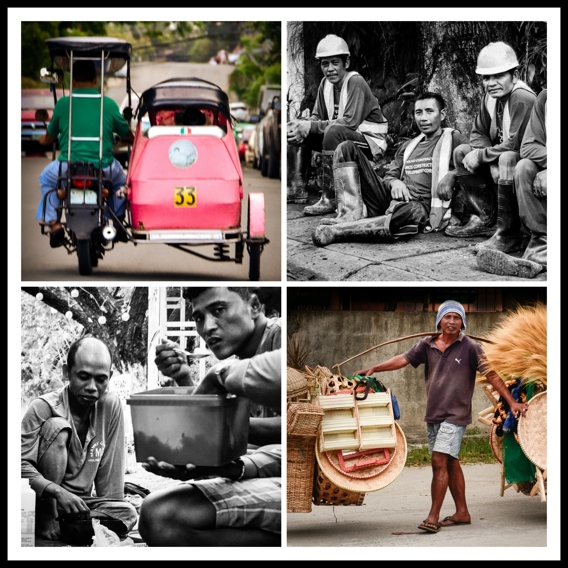 people working collage