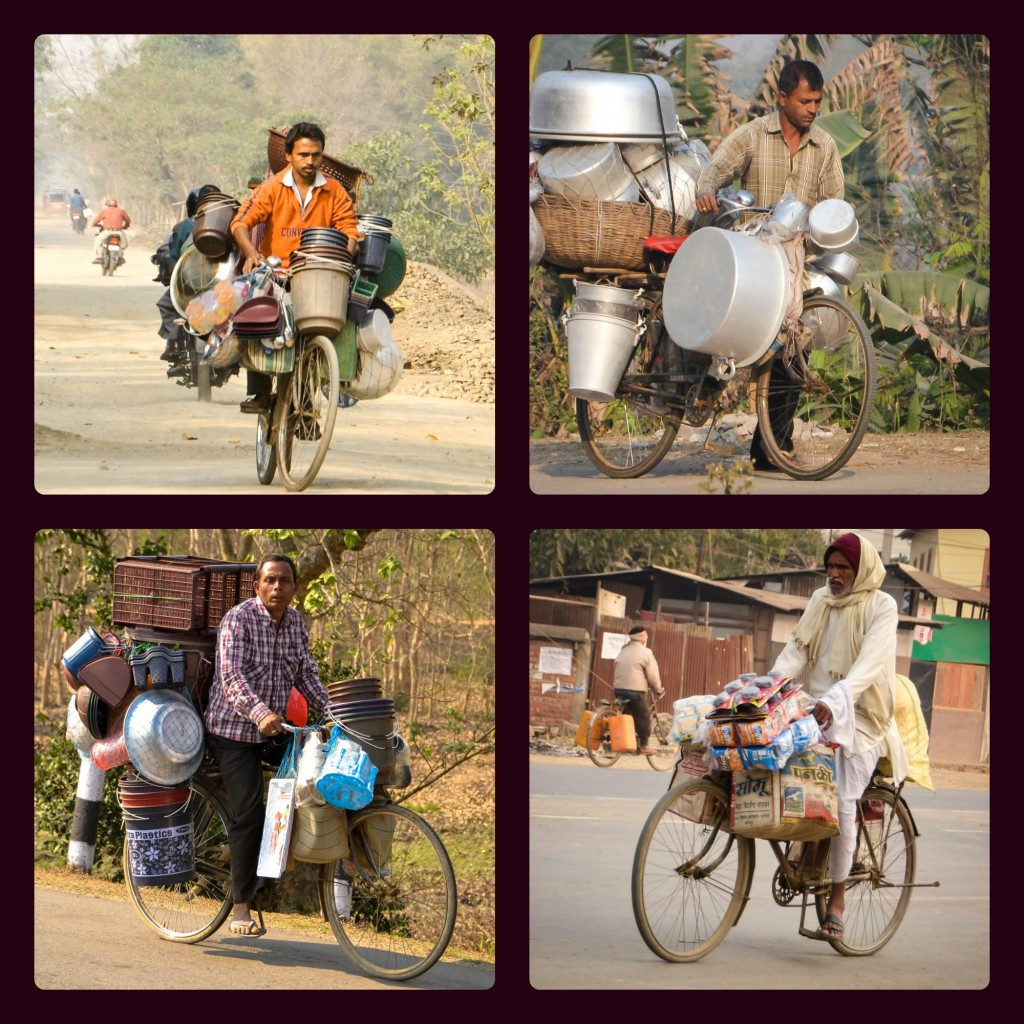 We're hardly the most heavily-loaded cyclists plying the roads in India.