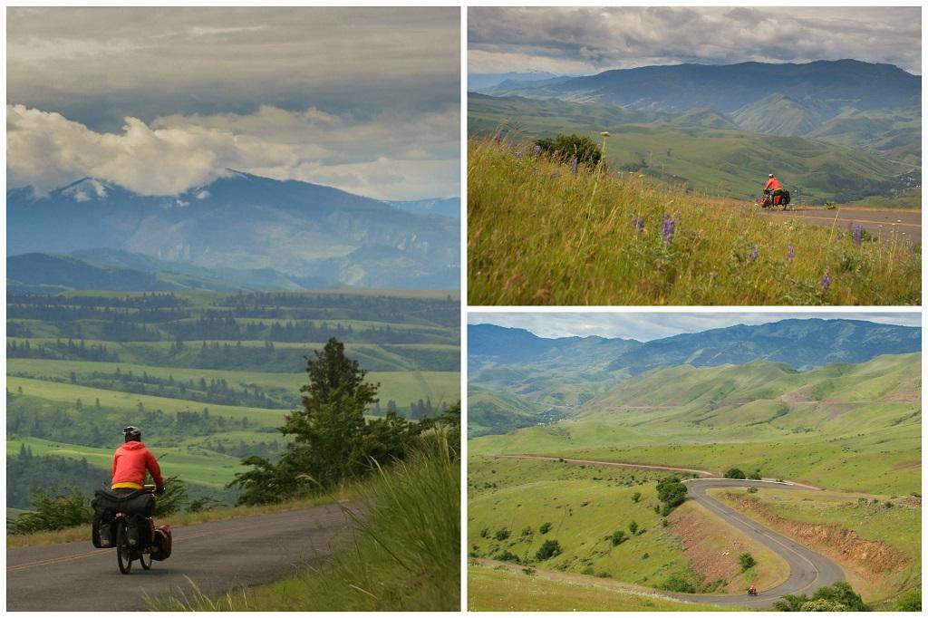 bicycle touring near Grangeville Idaho