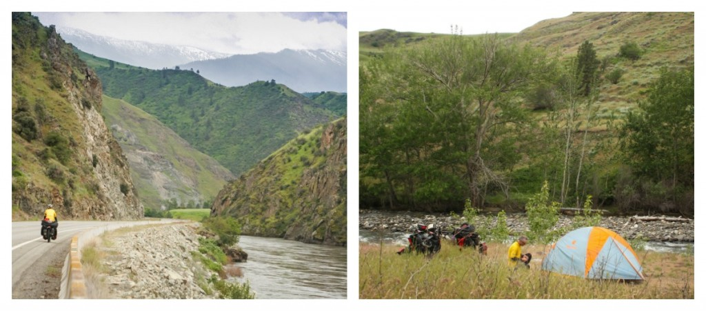 bicycle touring along the Salmon RIver