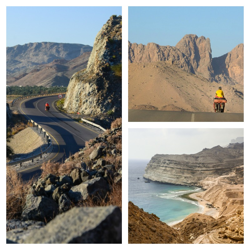Bicycle Touring in Oman landscapes