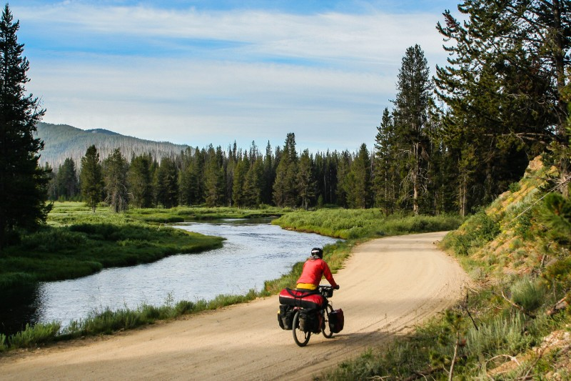 Cycling Idaho Hot Springs Mountain Bike Route