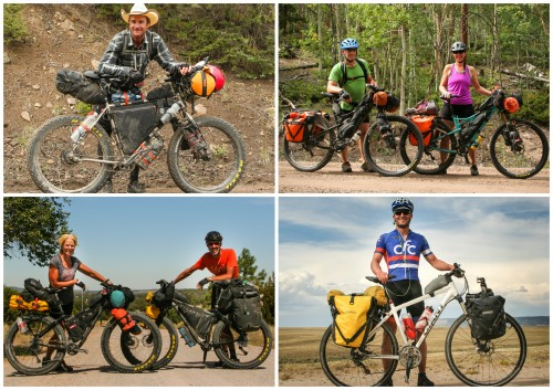 collage cyclists colorado (Biking the Great Divide: Colorado)
