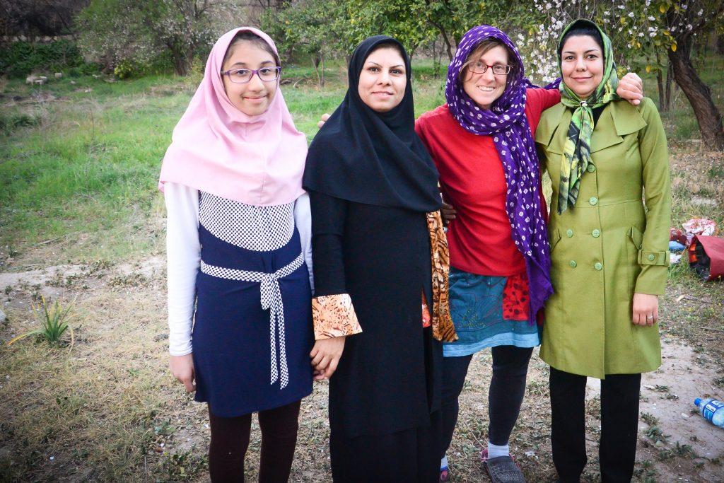 Woman bicycle touring in Iran.