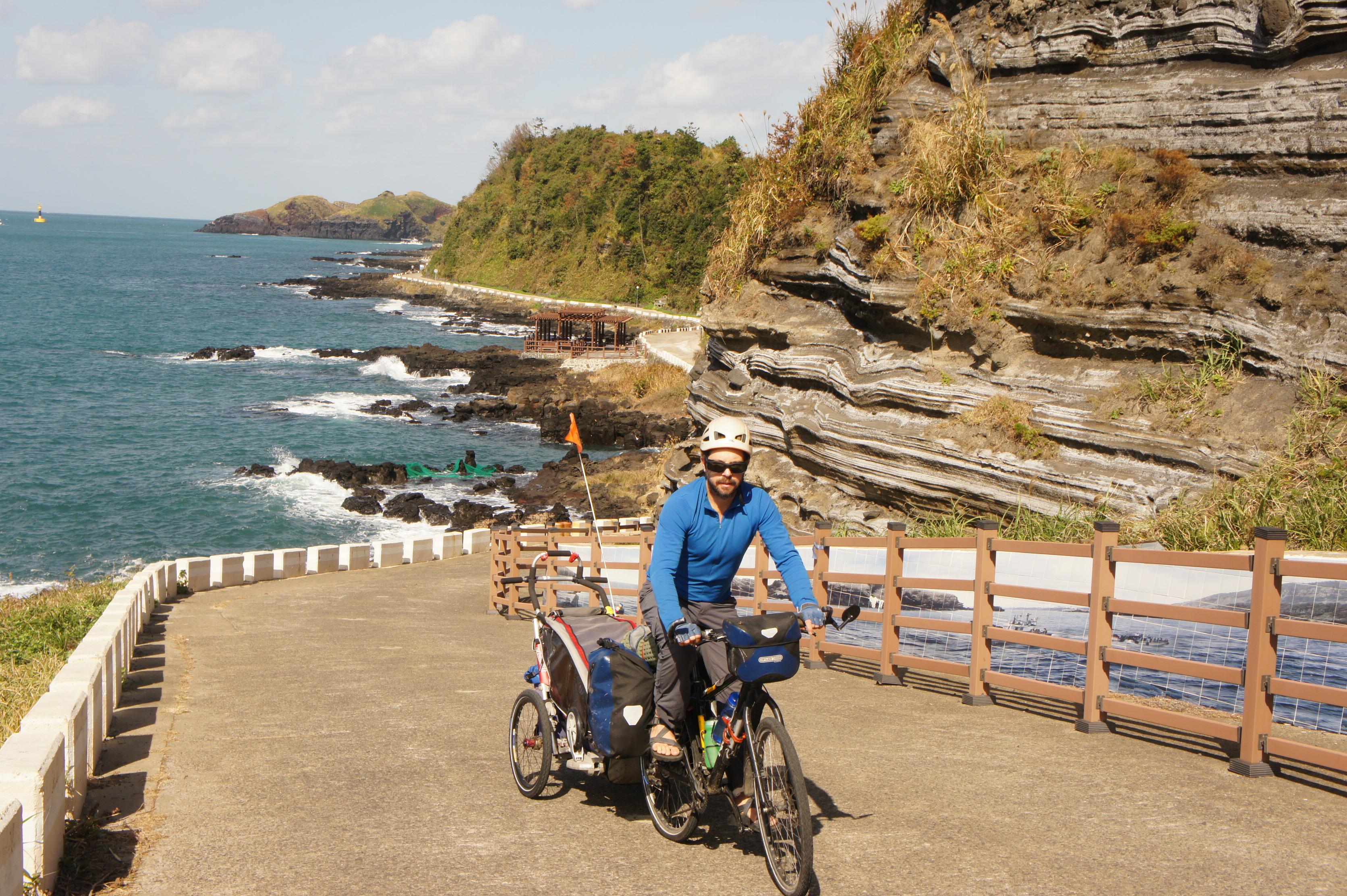 bicycle touring Jeju Island
