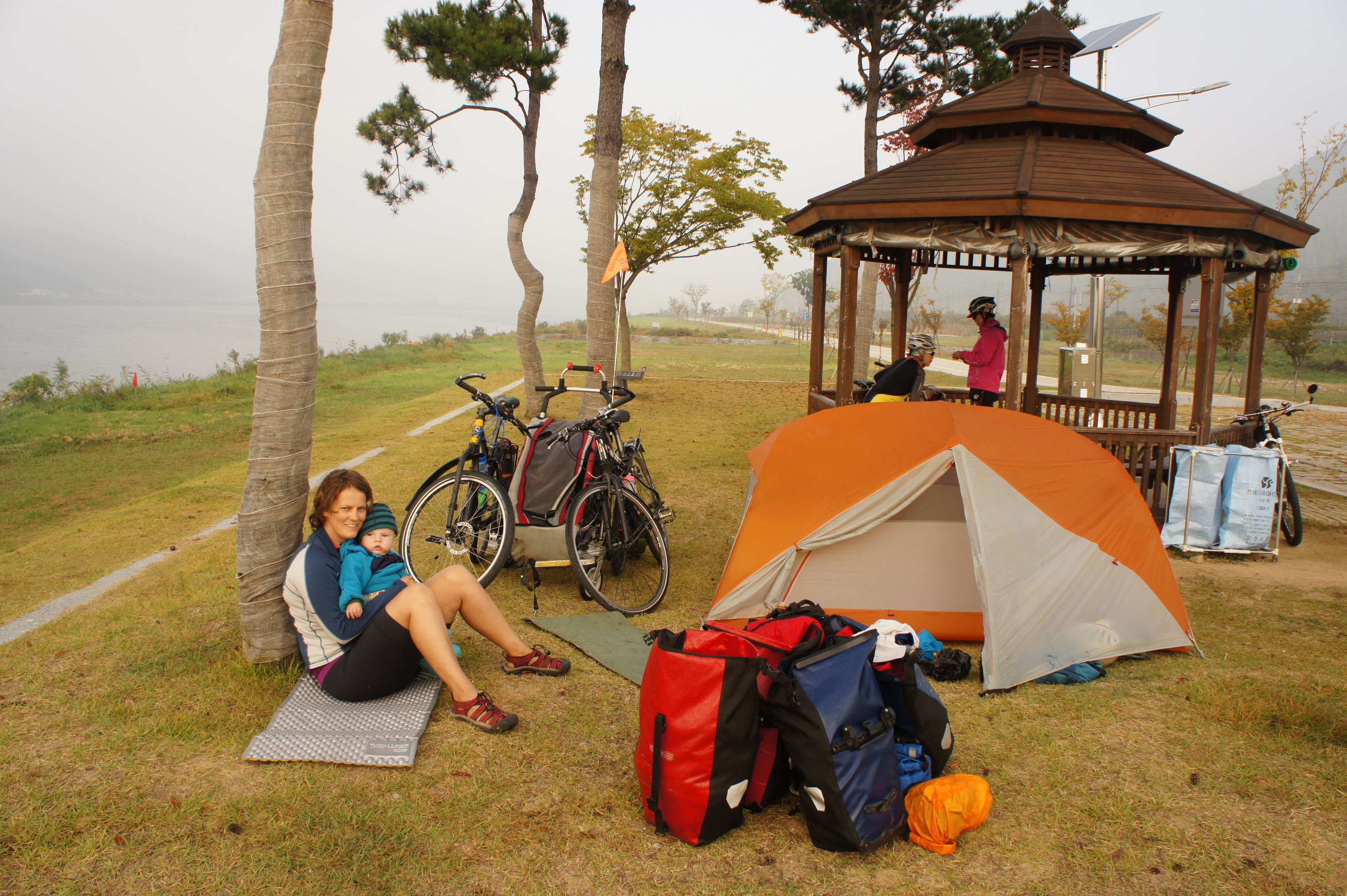 wild camping in South Korea
