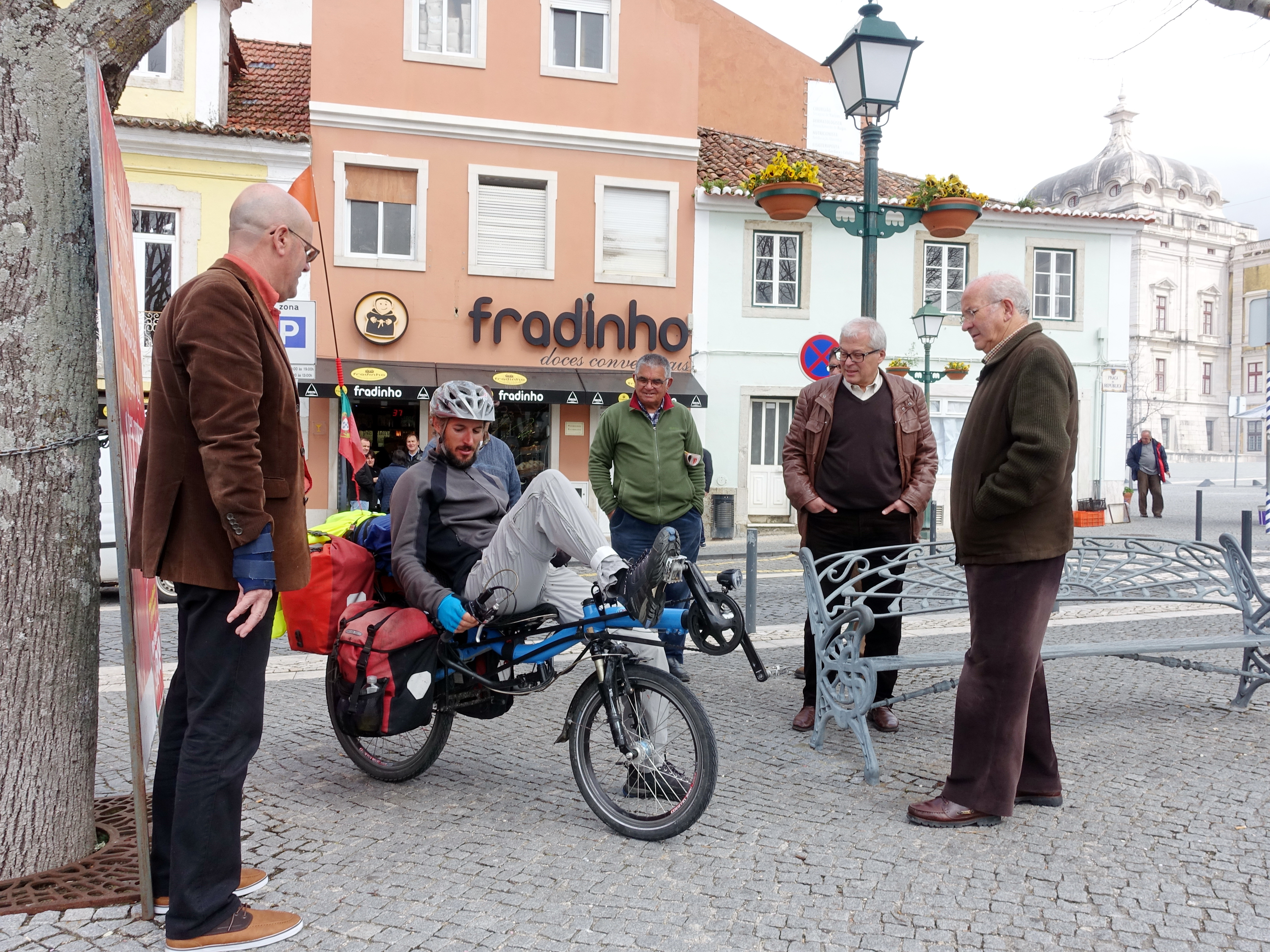 bicycle touring through small villages in Portugal