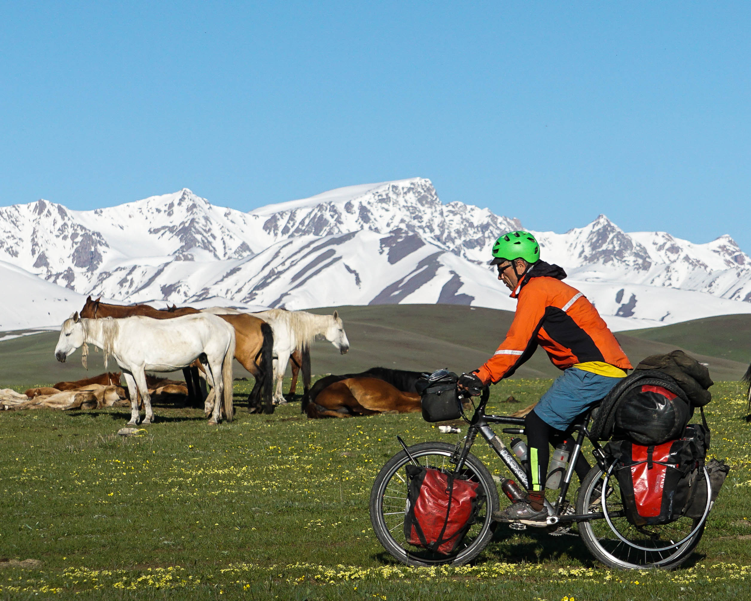bicycle touring in Kyrgyzstan