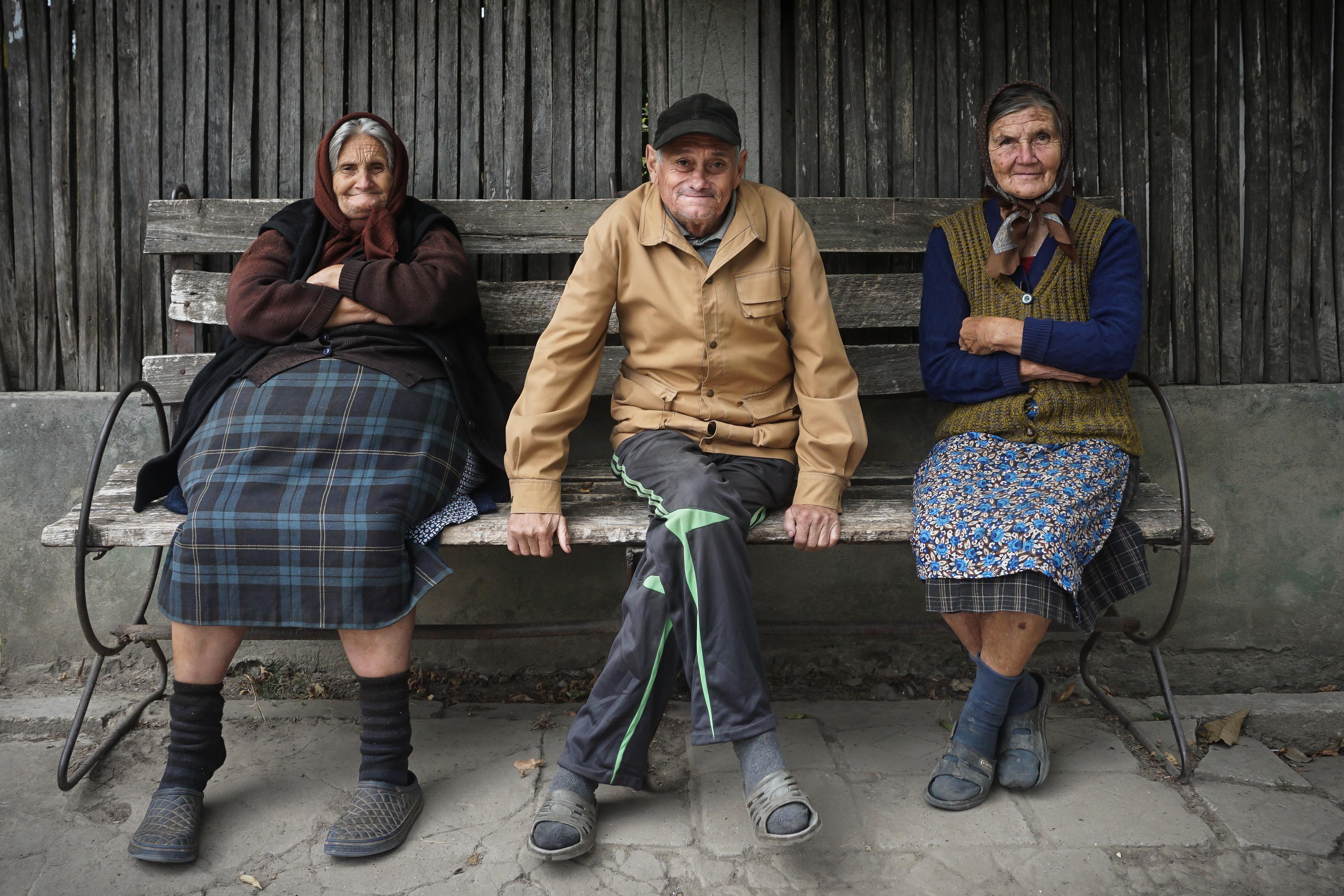Romanian villagers