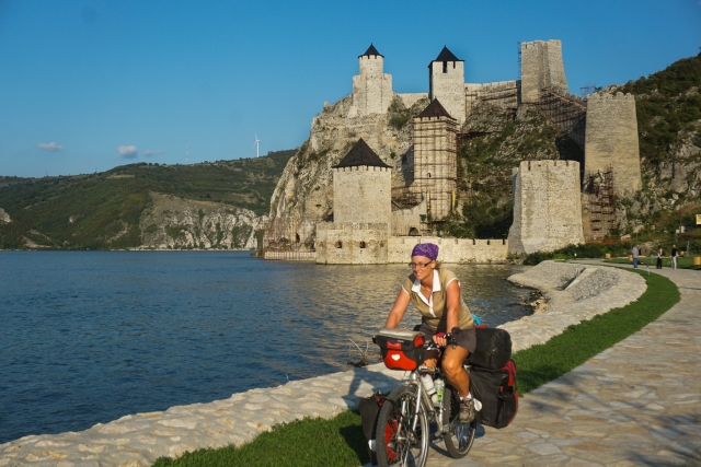Old ruined Golubac fortress on Danube in Djerdap (Iron gates) national park, Serbia