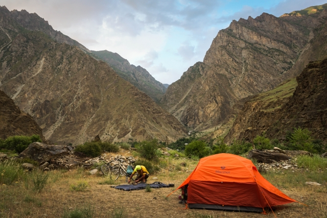 camping in the Pamir mountains