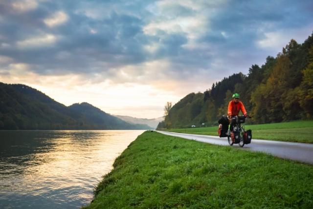 cycling along Danube River