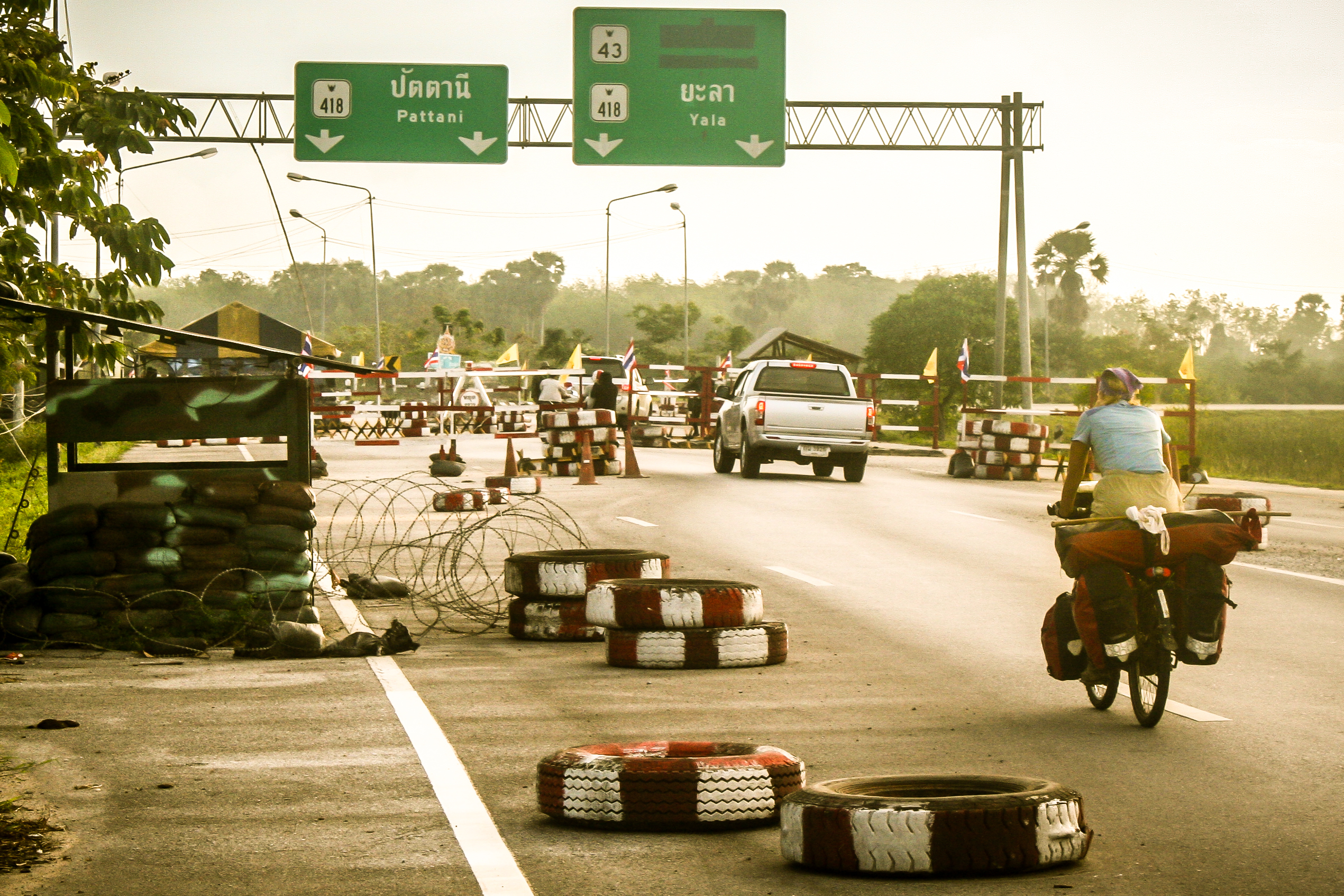 bicycle touring in southern thailand danger zone