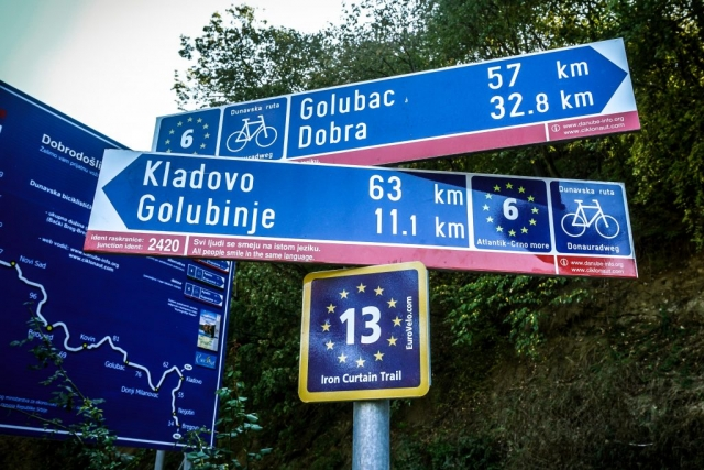 EuroVelo route signpost