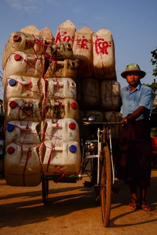 Bicycle rickshaw in Myanmar