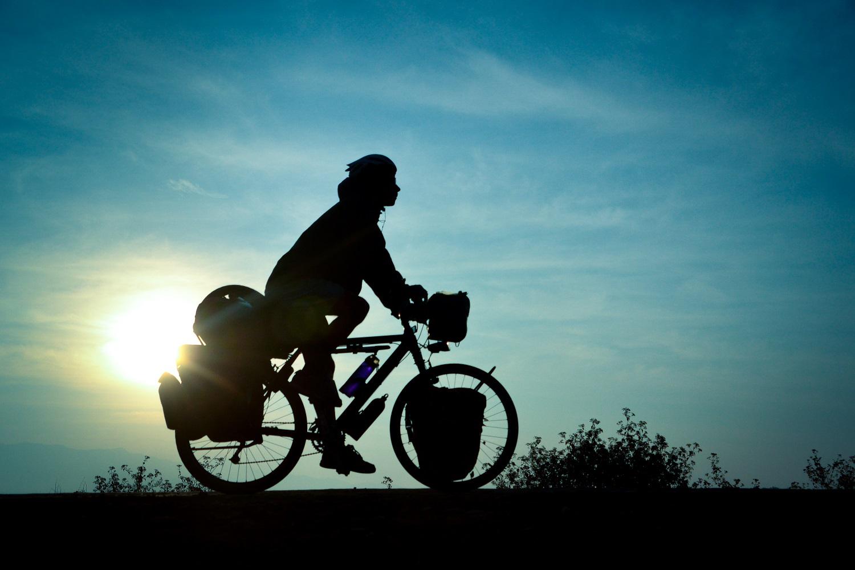 cyclist shilhouette