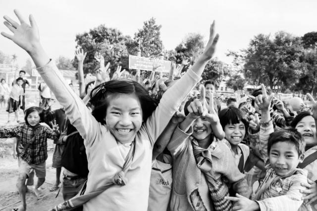 happy children in Myanmar
