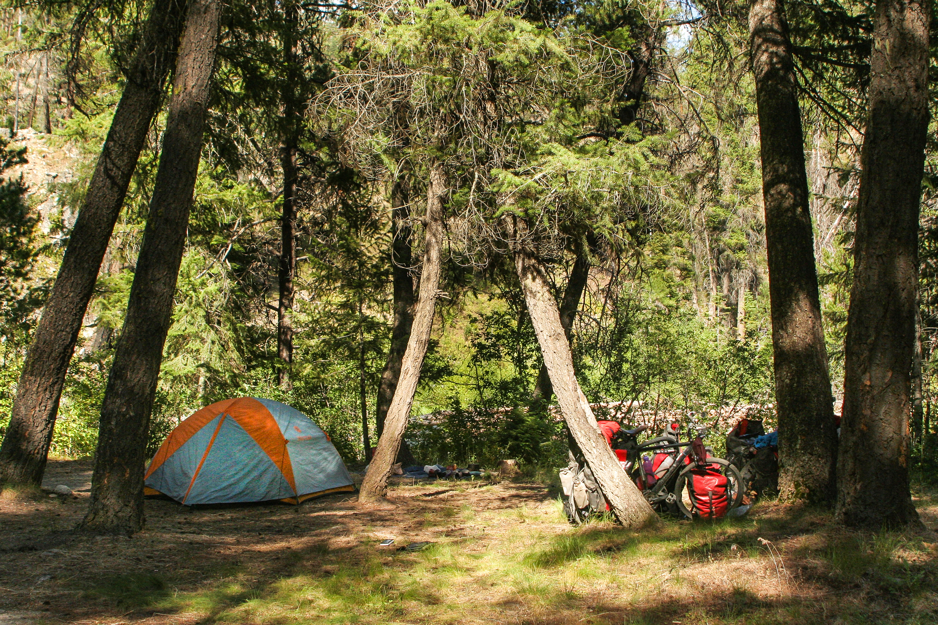 bike camping in the USA