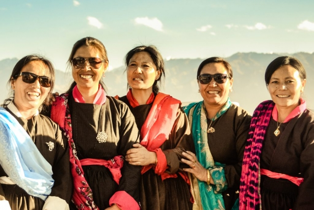 Women in Ladakh, India.