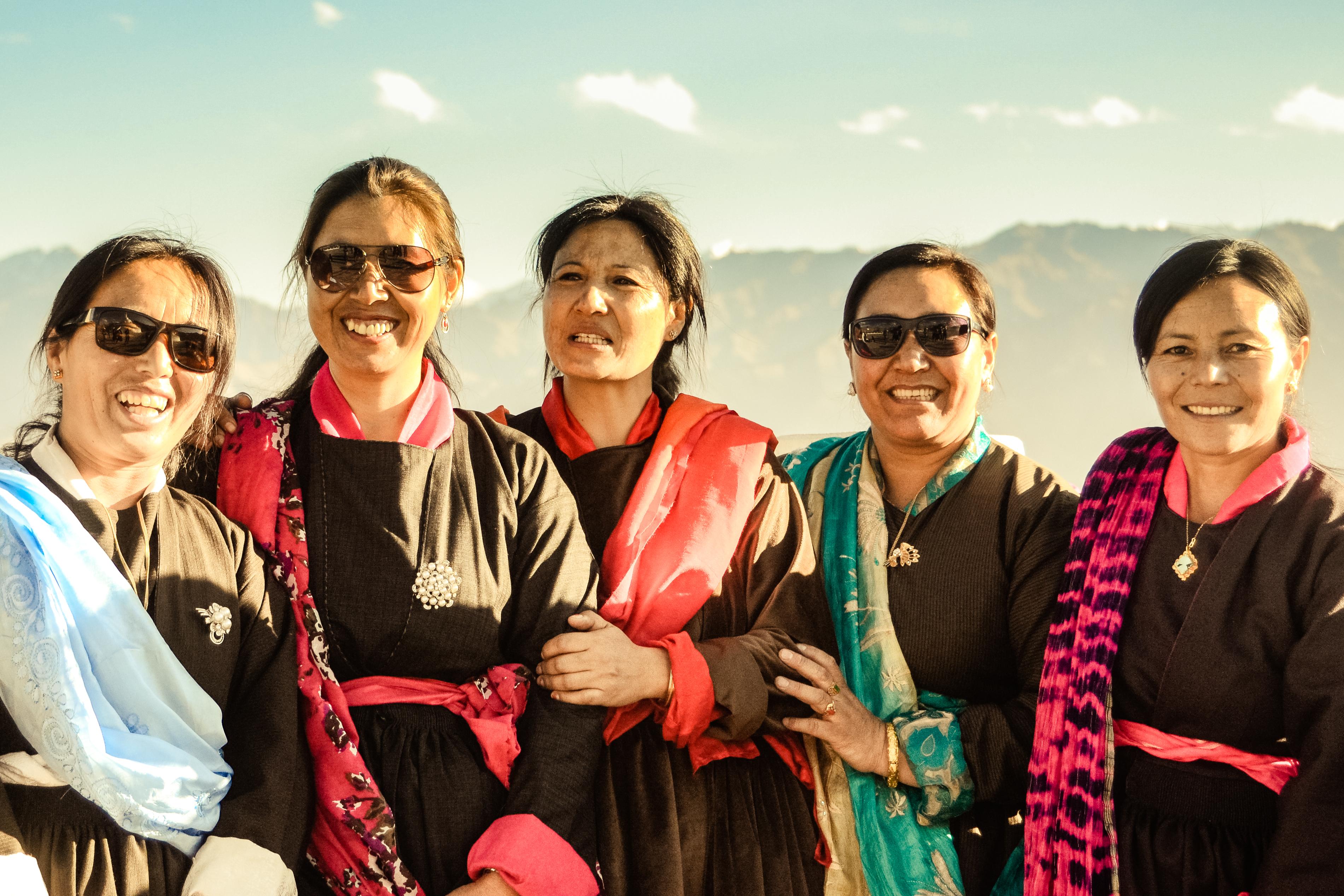 Women in Ladakh, India.