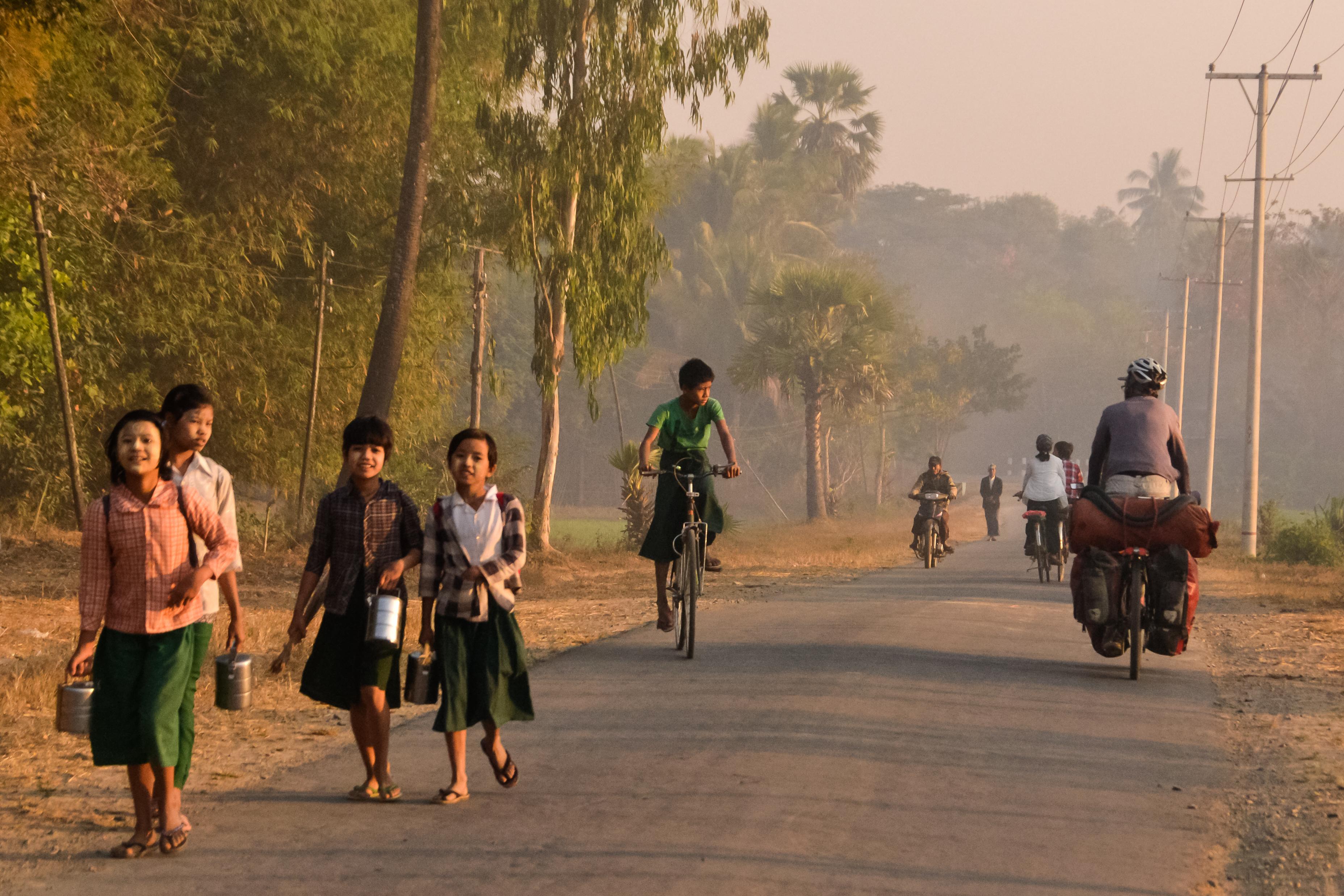 school kids in Myanmar