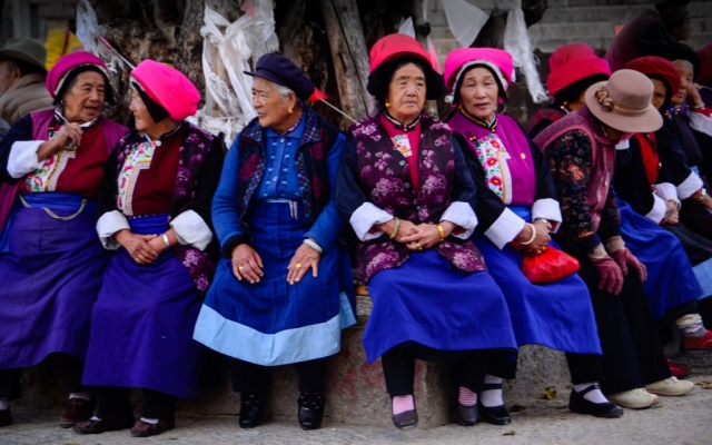 Tibetan women in China.