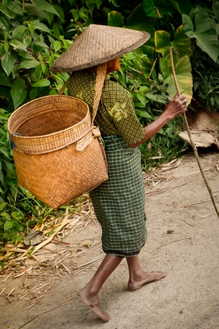 Toraja woman in Indonesia.