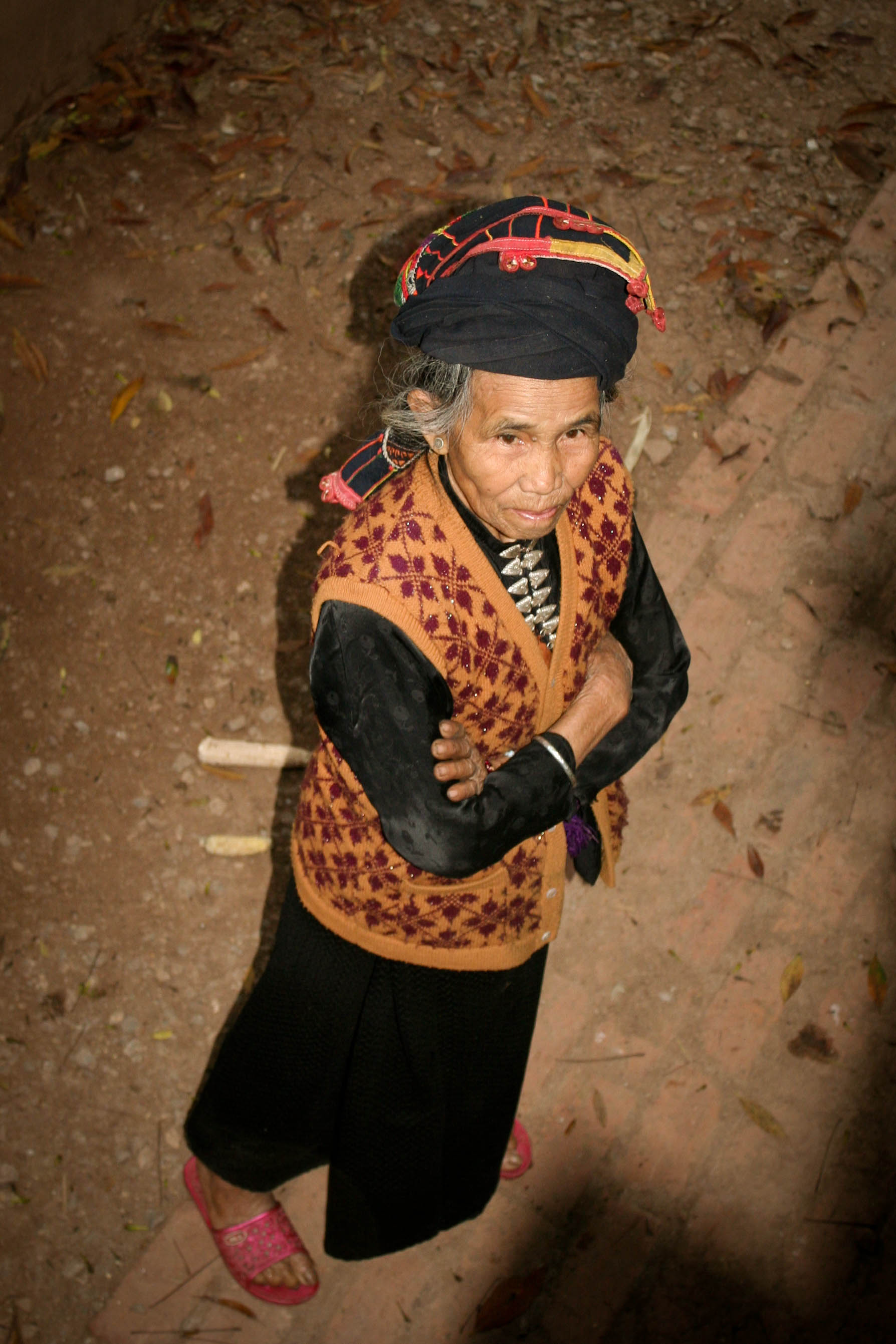 Woman in traditional dress in northern Vietnam.